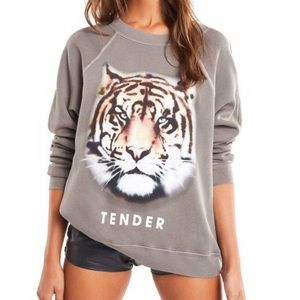 NWT Wildfox Tender Tiger Sommers Sweatshirt